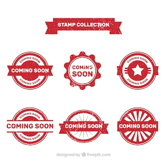 Vintage wkrótce kolekcja znaczków