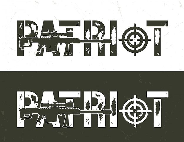 Vintage wojskowe poziome bannery