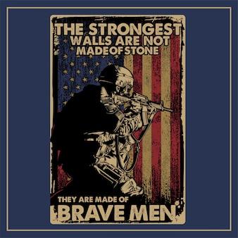 Vintage wojskowy plakat