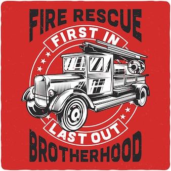 Vintage wóz strażacki