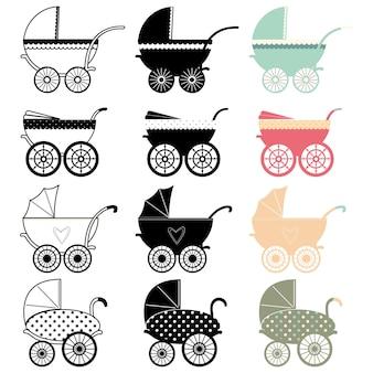 Vintage wózek dziecięcy