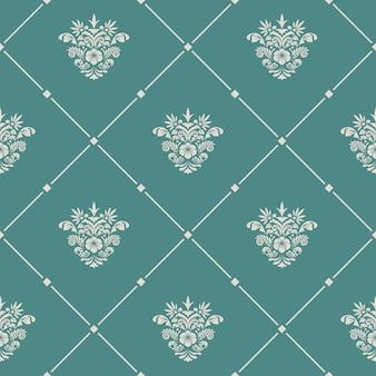 Vintage wzór bez szwu. zaprojektuj tapetę, retro tło dla tkaniny,