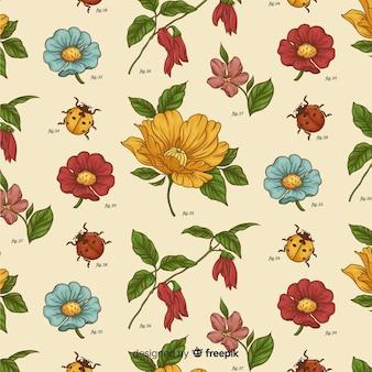 Vintage wzór botaniczny