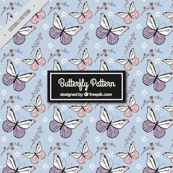 Vintage wzór motyli