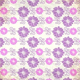 Vintage wzór z kwiatami