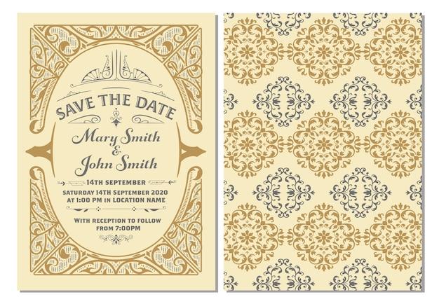 Vintage zaproszenie na ślub
