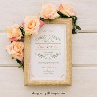 Vintage zaproszenie na wesele