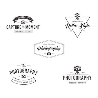 Vintage zdjęcia odznaki szablony etykiet