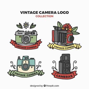 Vintage zestaw ikon kamery