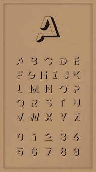 Vintage zestaw modny alfabet