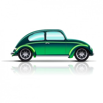 Vintage zielony samochód