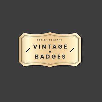 Vintage złote logo