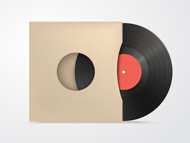 Vinyl i karton pokrywa makieta