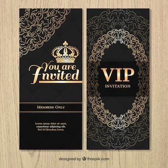 Vip luksusowe zaproszenia z ornamentami