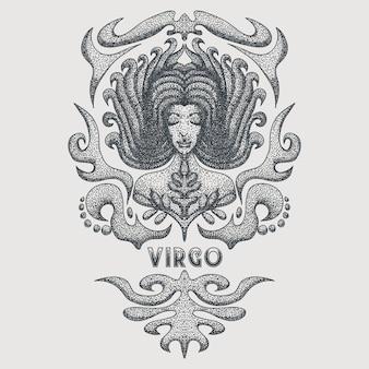 Virgo zodiak vintage