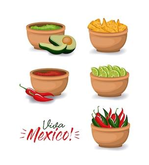 Viva meksyk kolorowy plakat
