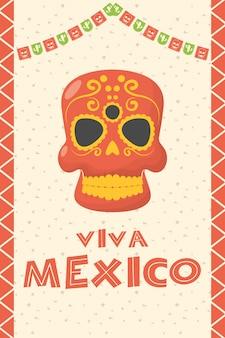 Viva mexico celebracja z maską śmierci