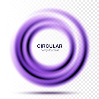 Vortex gradient okrągły okrągły banner. rama streszczenie koło na białym tle
