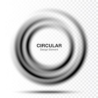 Vortex gradient okrągły okrągły banner. układ prezentacji tekstu. rama streszczenie szary wirowa koło na białym tle