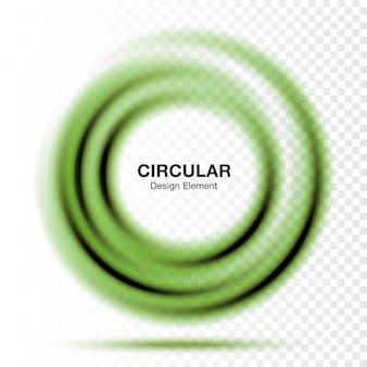 Vortex zielony gradient okrągły okrągły banner. układ prezentacji tekstu. streszczenie zielony