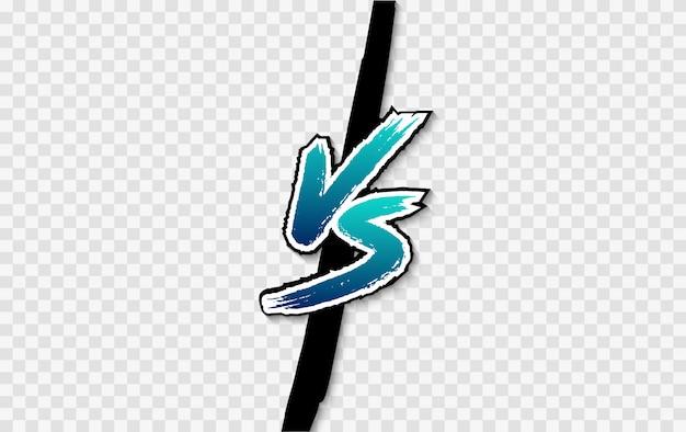 Vs. logo kontra list. bitwa kontra mecz, gra