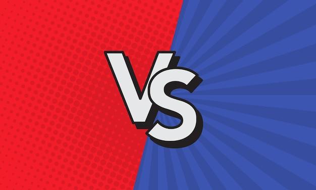 Vs nagłówek bitwy. rywalizacja pomiędzy zawodnikami, zawodnikami lub drużynami. ilustracja wektorowa