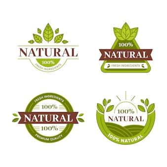 W 100% naturalna kolekcja etykiet