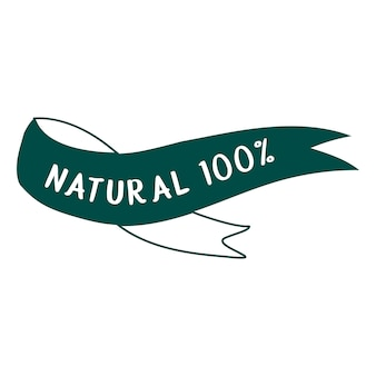 W 100% naturalny i ekologiczny wektor typografii żywności
