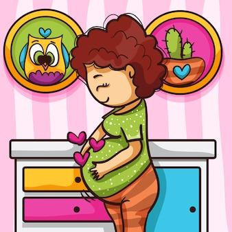 W ciąży w pokoju dziecka