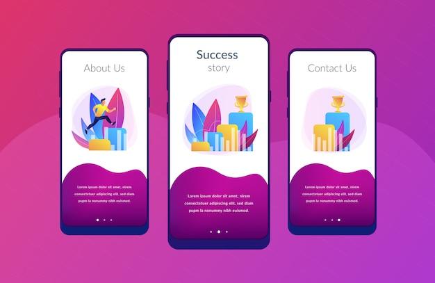 W drodze do sukcesu szablon interfejsu aplikacji