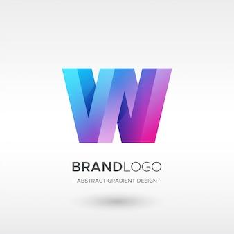 W gradient logo