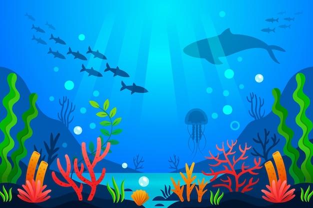 W morzu - tło do wideokonferencji