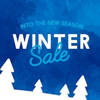 W nowy sezon wektor zima sprzedaży