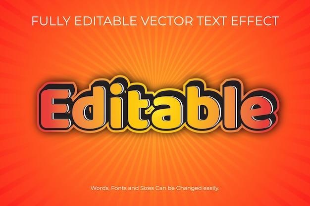 W pełni edytowalny efekt tekstu wektorowego