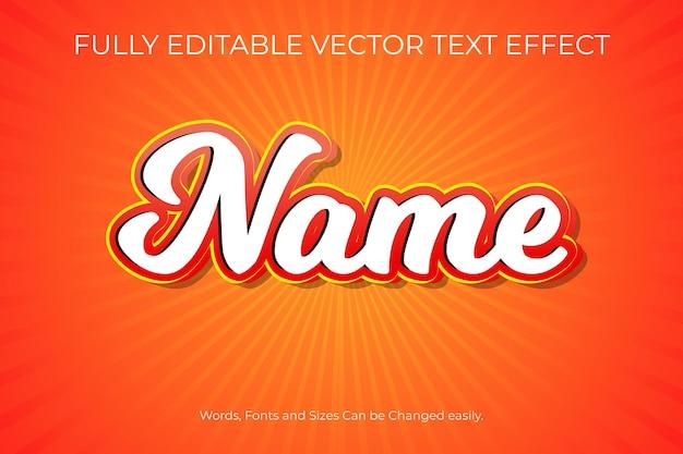W pełni edytowalny projekt efektu tekstu wektorowego