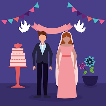 W płaskich ludzi weselnych