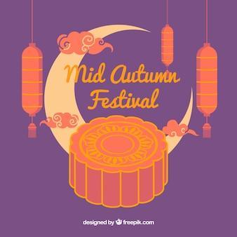 W połowie jesieni festiwalu tło