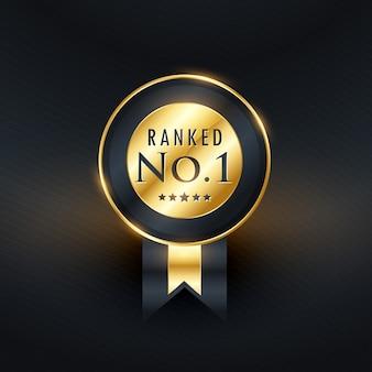 W rankingu nr 1 złote etykiety z wstążką