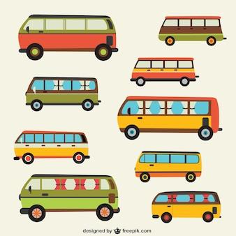 W stylu retro autobusy opakowanie