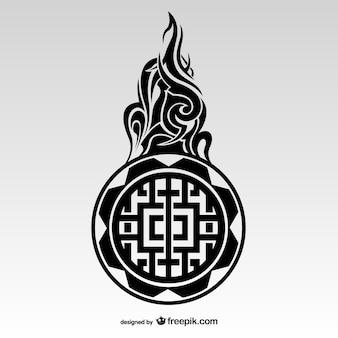 W stylu tribal tatuaż maori