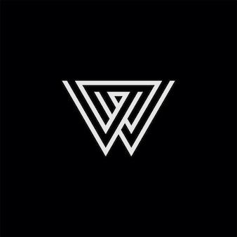 W symbol line art