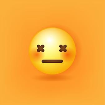 W tle emoji neutralnej twarzy