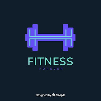 Waga logo fitness sylwetka płaski kształt