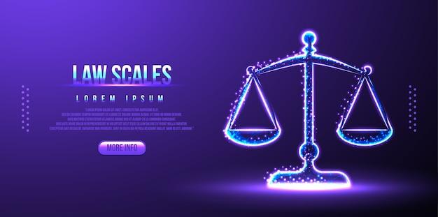 Wagi prawne, równowaga sędziowska, szkielet low poly
