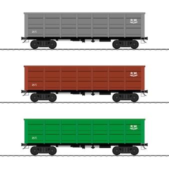 Wagony towarowe. wagon kolejowy.