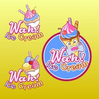 Wah ice cream logo