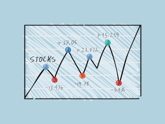 Wahania na giełdzie finansowej ilustracji wykresu