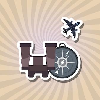 Wakacje ikona designu