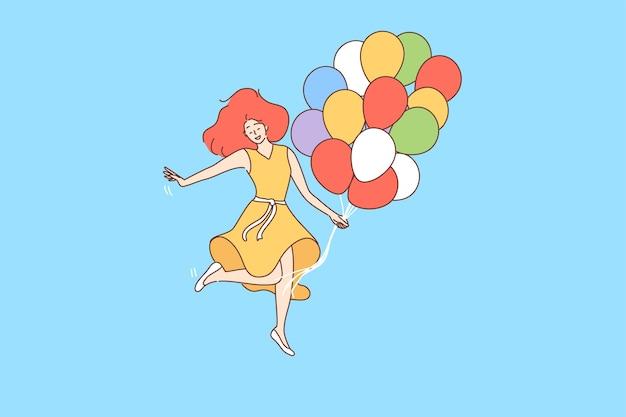 Wakacje, impreza, urodziny, uroczystość, koncepcja zabawy