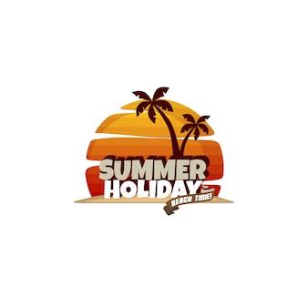 Wakacje letnie wakacje plaża wektorową